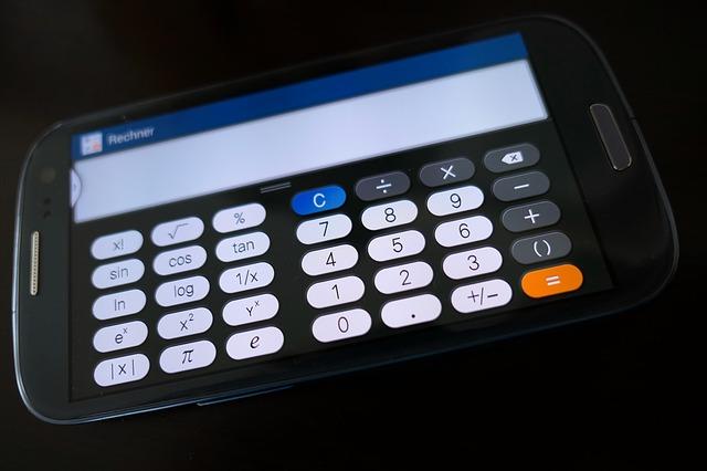 kalkulačka na mobilu